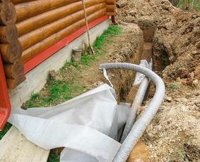 Lauko ir lietaus komunikacijos,drenazas,vandentiek
