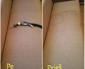 Minkštų baldų ir kilimų valymas