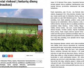 Straipsnis 15min.lt apie Pasaulio lietuvių jaunimo susitikimą