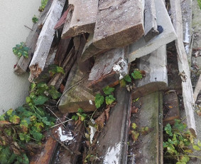 Statybinės medienos atliekos