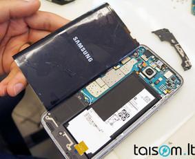 Samsung ekrano stikliukų keitimas Klaipėdoje