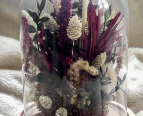 Originalūs dirbtinių ir džiovintų gėlių panaudojimo sprendimai, puokštės, kompozicijos, kompozicijų nuoma.