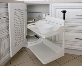 ergonomika ir kompaktiškumas virtuvėje mums labai svarbūs