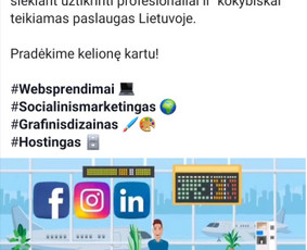 Facebook Reklama. Google ads. Turnio kūrimas.