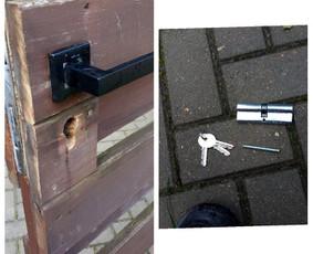 Durų/vartelių šerdelės keitimo darbai (nebuvo rakto).