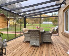 Terasos, stoginės, verandos