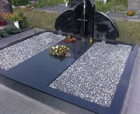 Paminklai kapams, kapų tvarkymas, granito plokštės / Tadas / Darbų pavyzdys ID 865961