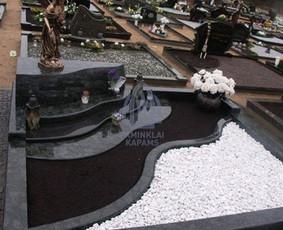 Paminklai kapams, kapų tvarkymas, granito plokštės / Tadas / Darbų pavyzdys ID 865965