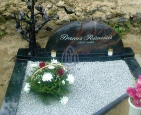 Paminklai kapams, kapų tvarkymas, granito plokštės