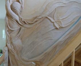 Meninis sienų dekoravimas, Tapyba ant sienų, Relejefai