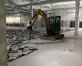 Netinkamų grindų demontavimas