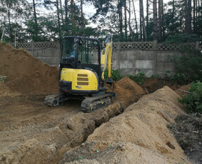 Žemės darbai, objekto paruošimas statybai, birios medžiagos