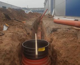 Vandentiekio kanalizacijos įvedimas,drenažo įrengimas .