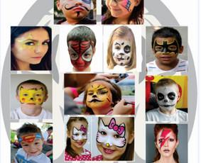 Laikinos tatuiruotės, piešimas ant veidų