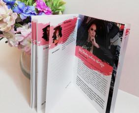 Konferencijos knygelė su aprašymais ir reklamine informacija