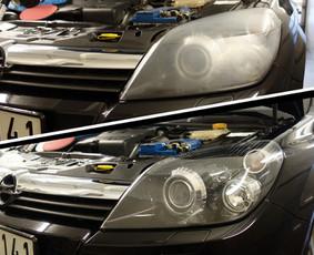 Profesionalus automobilio žibintų poliravimas