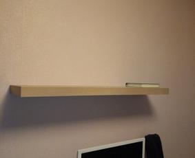Dažniausiai kabinamos yra Ikea lentynos. Bet nėra skirtumo. Jūs sakote KUR, o aš jau žinosiu KAIP.