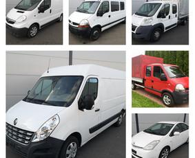 Krovininių mikroautobusų / automobilių nuoma