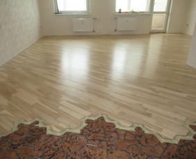 Parketo,grindų šlifavimas su 3 lakavimais 5€/m2 860710068