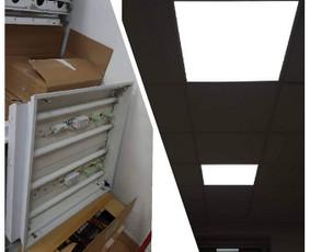 Senoms liuminescencinės lempos reikia daug priežiūros ir aptarnavimo. Laikas keisti į LED paneles: nemirksi, gražu, šviesu, taupu, solidu...