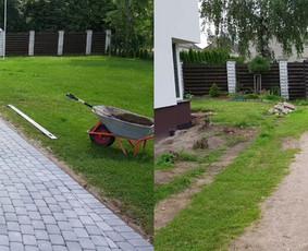 Klojame trinkeles, įrengiame lietaus kanalizaciją, drenažą