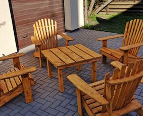 Gaminame įvairius lauko baldus, suvenyrus, kavos staliukus.