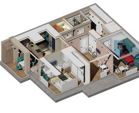 Architektūrinis projektavimas, 3d vizualizacijos Archicad / ADE / Darbų pavyzdys ID 990885