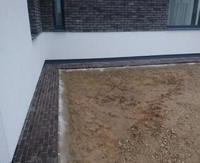 Trinkeliu klojimo darbai,tvoru,pamatu betonavimas