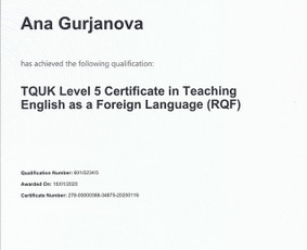 Bakalaurė, magistrė, Tquk, Ofqual Tefl diplomuota