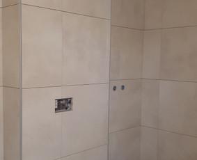 Plyteliu klijavimas -voniu,laiptu pagal uzsakymus / zilvis / Darbų pavyzdys ID 1007037