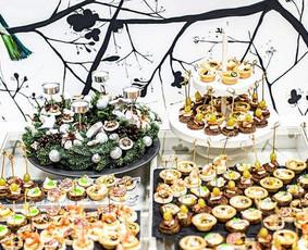 Vieno kąsnio užkandžiai, maistas Jūsų šventei