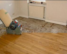 Medinių grindų, parketo šlifavimas
