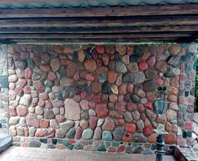 Akmens muro darbai, trinkeliu klojimas, betonavimas