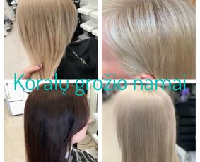 Šeimos kirpimai, dažymai, šukuosenos, plaukų laminavimas