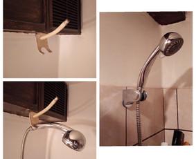 Vonios, vandens ragelio laikiklio tvirtinimo darbai. Vonioje viskas turi būti patogu ir ergonomiška.
