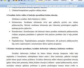 Konsultavimas rengiant rašto darbus / Gerda / Darbų pavyzdys ID 1065219