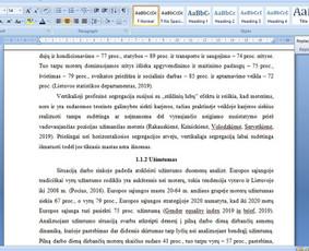 Konsultavimas rengiant rašto darbus / Gerda / Darbų pavyzdys ID 1065223