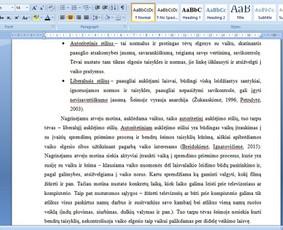 Konsultavimas rengiant rašto darbus / Gerda / Darbų pavyzdys ID 1065235