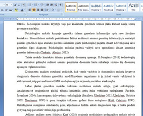 Konsultavimas rengiant rašto darbus / Gerda / Darbų pavyzdys ID 1065331