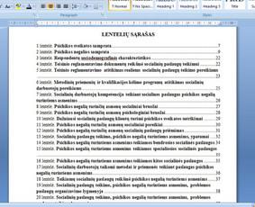 Konsultavimas rengiant rašto darbus / Gerda / Darbų pavyzdys ID 1065341