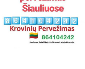 Krovinių pervežimas ir perkraustymo paslaugos Šiauliuose / Andrius Kauneckis / Darbų pavyzdys ID 1073919
