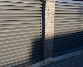 Skardinės tvoros, gamyba ir montavimas