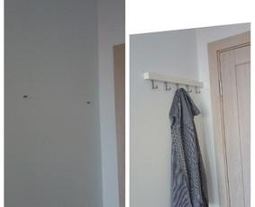 #ikea rūbų kabyklos kabinimas/montavimas kambaryje. Svarbiausia pasirinkti tinkamus varžtus ir gerai išsimatuoti.