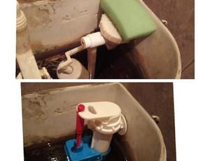 Klozeto mechanizmų keitimo darbai.  Tvarkingas tualetas ne prabanga, o būtinybė. Tekantis vanduo iš klozeto, dideli nuostoliai šeimininkui.