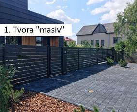Polisadinės tvoros, tvorų montavimas, kito tipo tvoros