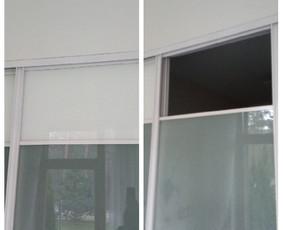 Stumdomų durų remontas. Šiuo atveju reikėjo stiklą išimti, o ne įdėti. Viskas dėl to, kad į kambarį pritekėtų daugiau oro, kai durys uždarytos (dėl gyvūnų).