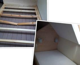 Lovos remonto darbai. Sulaužyta lova - dažnas atvejis. Tereikia sustiprinti gamykliškai silpnas vietas ir atstatyti lūžius.