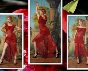 Suknelė nerta kabliuku iš Anchor Aida medvilninių nėrimo siūlų. Ši suknelė puikiai atrodo ir puoš jus šventini vakarą, kuriame būsite išskirtinė ir nepakartojama.