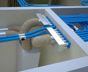 Rekuperacinė sistema, kondicionieriai, šilumos siurbliai.