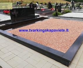 Kapo dengimas plokšte, paminklai kapams, kapų tvarkymas / TVARKINGA KAPAVIETĖ / Darbų pavyzdys ID 1094309